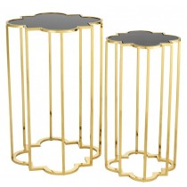 CONCENTRIC GOLD SIDE TABLES