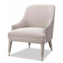Sylvia Limestone Velvet Armchair
