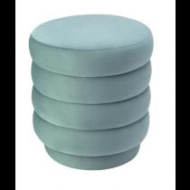 Lou Deep Turquoise Velvet Stool