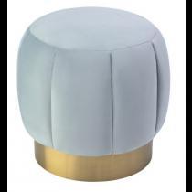 Cloe Turquoise Velvet & Brass Stool