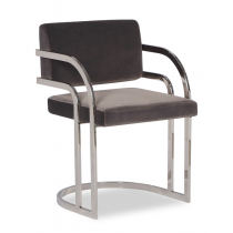 Dylan Nickel Grey Velvet Dining Chair
