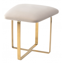 Tatel Gainsborough Limestone Velvet Stool