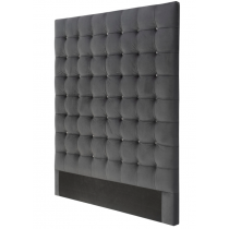 Havana Queen Jet Grey Velvet Headboard