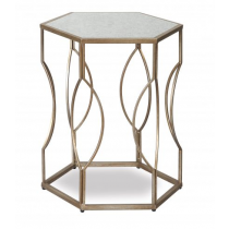 Tao Antique Silver & Antique Mirror Side Table