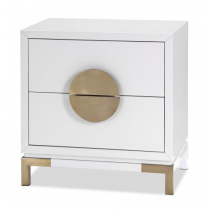 Otium White & Champagne Gold Bedside Table