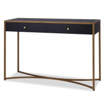 Rivoli Black Ash & Brass Console Table