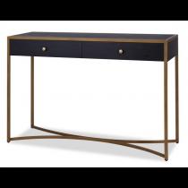 Rivoli Black Ash & Brass Console Table