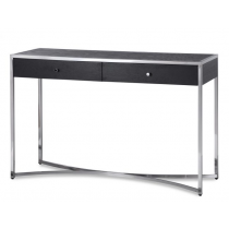 Rivoli Black Ash & Stainless Steel Console Table