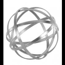 "Titan 12"" Silver Leaf Sphere"
