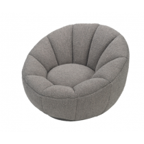 Paradise Boucle Grey Swivel Chair