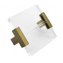 Manchester Square Acrylic & Brass Brackets
