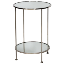 Worlds Away Chico Nickel Side Table