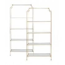 Worlds Away Chloe Gold Leaf Etagere
