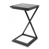 CROSS SIDE TABLE GUNMETAL