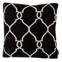 EICHHOLTZ CUSHION SACHS BLACK SET OF 2