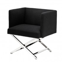 EICHHOLTZ DAWSON CHAIR PANAMA BLACK