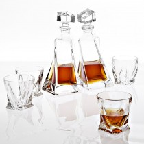 DECANTER SET SAPPHIRE CRYSTAL