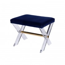 WORLDS AWAY DIXON LUCITE STOOL