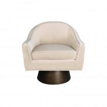 Dominic Cream Velvet Swivel Chair