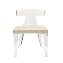 DUKE ACRYLIC CHAIR WITH BEIGE SHAGREEN