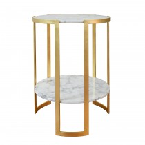 Edgar Gold Leaf Side Table