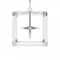 Eli Square Pendant With Nickel Hardware