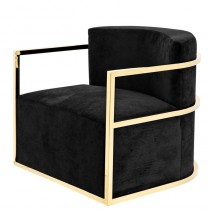 EICHHOLTZ EMILIO CHAIR GOLD / BLACK