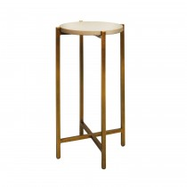 Fitz Brass Cigar Table with Grey Shagreen Top