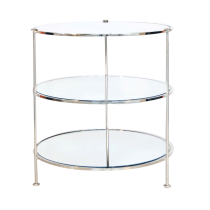 Worlds Away 3 Tier Nickel Side Table