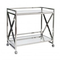 Worlds Away Gerard S/Steel Bar Cart