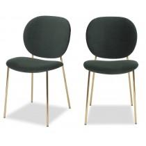 Elsa Kaster Castleton Green Velvet Dining Chair - Set of 2