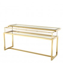 HARVEY CONSOLE TABLE BRASS