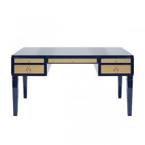 Heidi Navy Lacquer & Nickel Desk