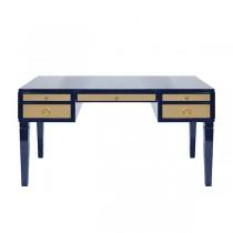 Heidi Navy Lacquer & Brass Desk