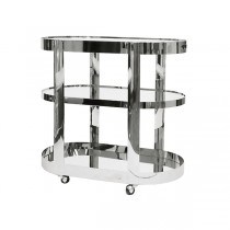 Hugh Nickel Bar Cart