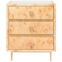 Worlds Away Hyde Burlwood and Gold Bedside
