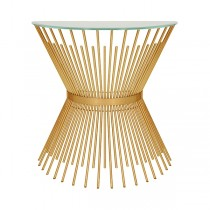 Jasmine Gold Leaf Console Table