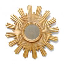 Worlds Away Josephine Gold Leaf Starburst Mirror