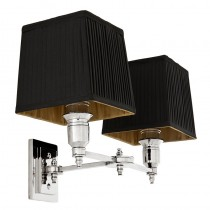 LEXINGTON WALL LAMP DOUBLE NICKEL BLACK