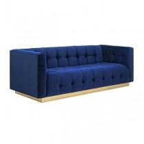 Webster Marine Blue Velvet Sofa