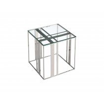 Lafayette Stainless Steel Side Table