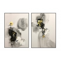 Hand Painted Oil Paint on Canvas - Set of 2