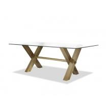Zaha Brass Dining Table