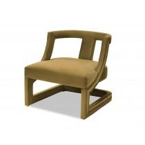Jimi Kaster Mustard Velvet Armchair