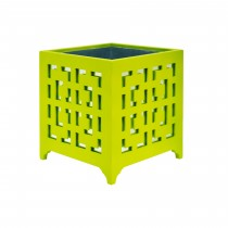 Libby Lime Green Motif Mirror Planter