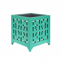 Libby Turquoise Motif Mirror Planter