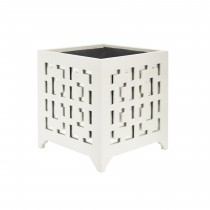 LIBBY WHITE MOTIF MIRROR PLANTER