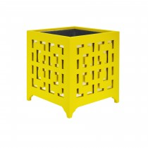 LIBBY YELLOW MOTIF MIRROR PLANTER