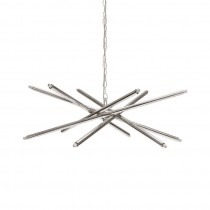 Luisa Modern Nickel Chandelier