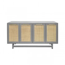 Macon Grey Lacquer Cabinet